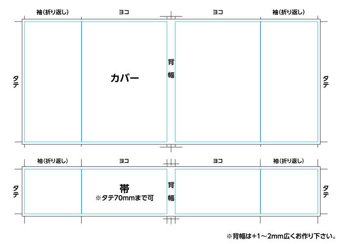 カバー/帯の展開図