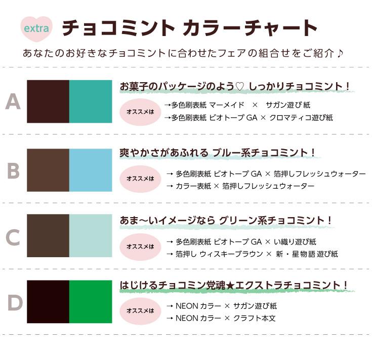 チョコミントカラーチャート