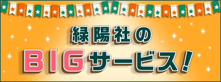 緑陽社のBIGサービス!