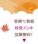 多色刷り表紙「秋色インク」加算無料